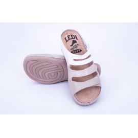 Női anatómiai bőr papucs 3 színű tépőzáras 432/6